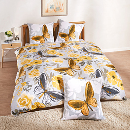 Parure de lit Papillons coloris or