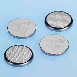 Piles bouton lithium, lot de 4