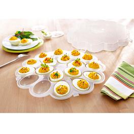 Plat à œufs avec couvercle