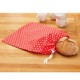 Pochette à pain, rouge-blanc