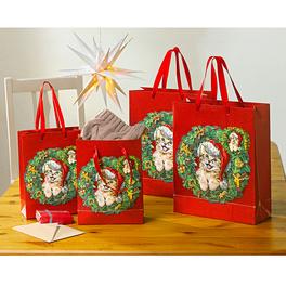 Pochettes-cadeaux chatons Noël