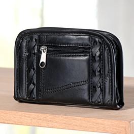 Porte-monnaie patchwork, noir
