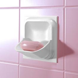 Porte-savon spécial carrelage mural, blanc