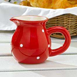 """Pot à lait """"Pois"""", rouge-blanc"""