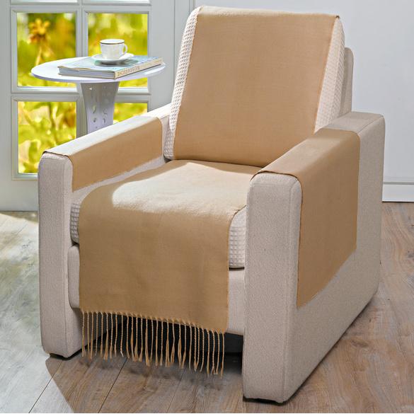 Protection de fauteuil 100x200cm, caramel