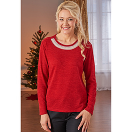 Pull Perle, rouge