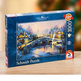 Puzzle village hivernal