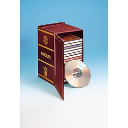 Rangement 19 CD, bordeaux