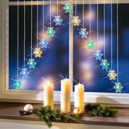 Rideau à LED Flocons de neige