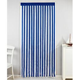 Rideau de porte, bleu-blanc