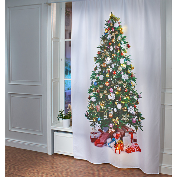 Rideau sapin de Noël à LED