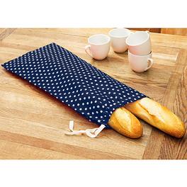 Sac à pain, bleu-blanc