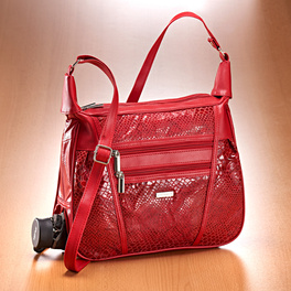 Sac patchwork Serpent, rouge