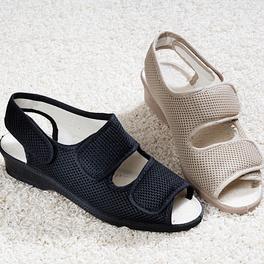 Sandales scratchées, beige