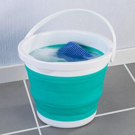 Seau de ménage pliable, turquoise