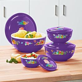 Set de plats pour four à micro-ondes, violet