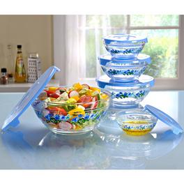 Set de saladiers 10 pièces, bleu clair