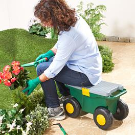 Siège de jardinage à roulettes