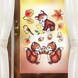 Sticker pour fenêtre Animaux de la forêt