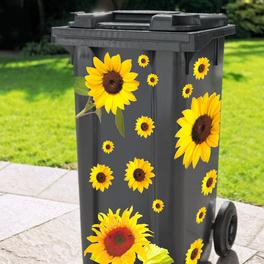 Sticker pour poubelle Tournesols