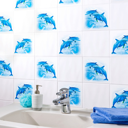 """Stickers carrelage """"Dauphins"""""""