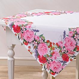 Surnappe motif floral