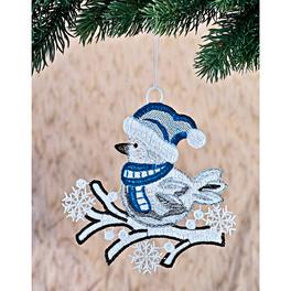 Suspensions en textile Oiseau avec écharpe