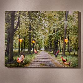 Tableau LED Allée avec poules