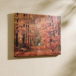 Tableau LED Forêt d'automne