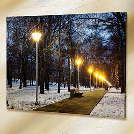 Tableau à LED Paysage hivernal