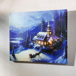 Tableau Paysage hivernal avec LED
