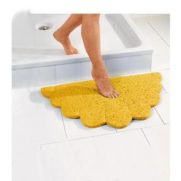 Tapis de bain, jaune