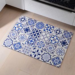 Tapis de cuisine 48x68cm, bleu