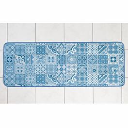 Tapis de cuisine 54x140 cm, bleu