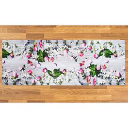 Tapis de cuisine Fleurs 52x140cm
