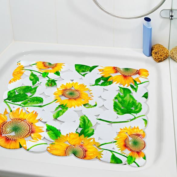 Tapis de douche, Fleurs