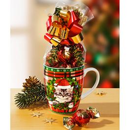 Tasse à café Chaton de Noël