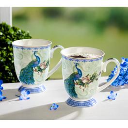 Tasse en porcelaine Paon