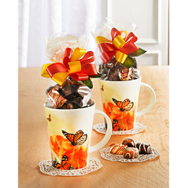 "Tasse ""papillon"" avec chocolats, lot de 2"