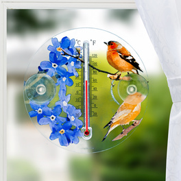 """Thermomètre """"Oiseaux et Fleurs"""""""
