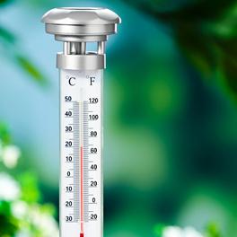 Thermomètre de jardin solaire