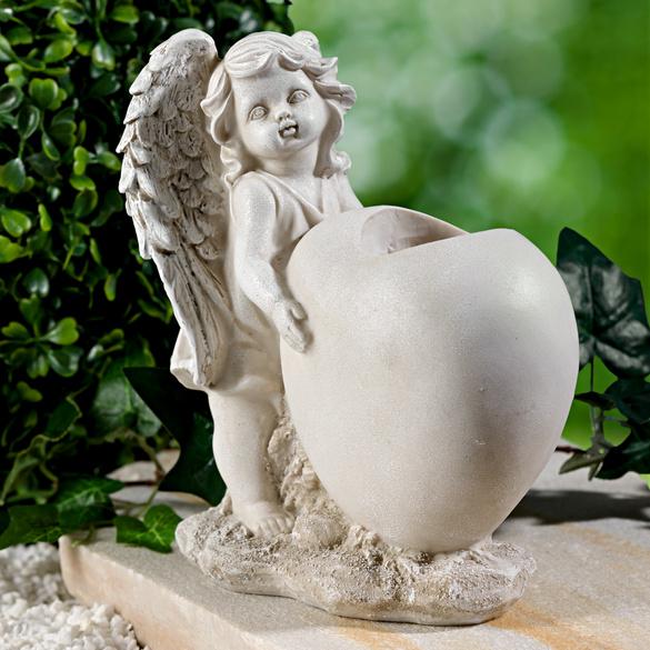 Vase cœur, Ange