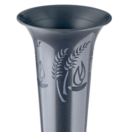 Vase pour tombe, anthracite
