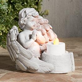 Veilleuse de pierre tombale ange