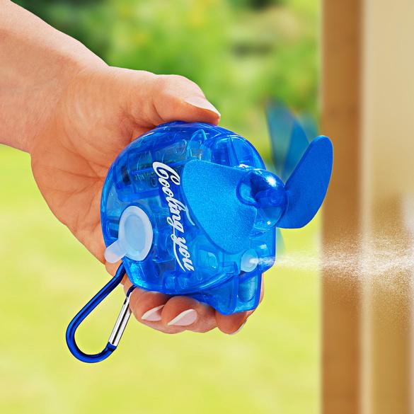 Ventilateur à main avec spray
