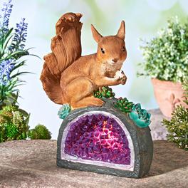 Écureuil avec son cristal