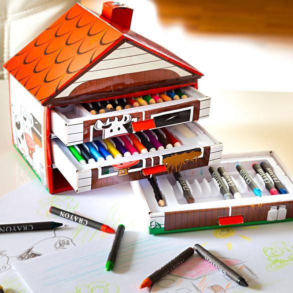 Maison de coloriage, 40 pièces