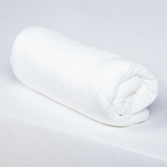 Drap-housse, blanc
