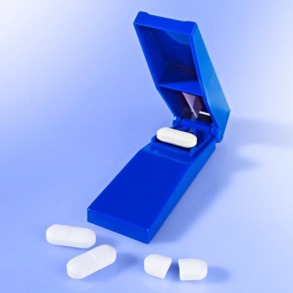 Coupe-pilule, bleu