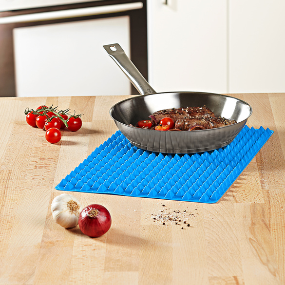 Feuille de cuisson en silicone, bleu